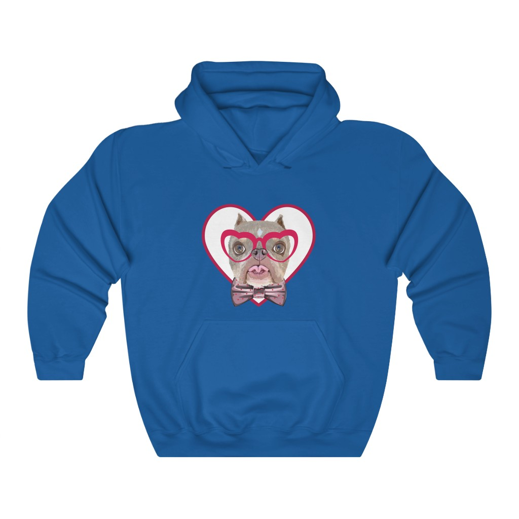 Road Dogs and Rescue Atlas Love Heavy Blend™ Hooded Sweatshirt (Unisex) Front Royal Blue