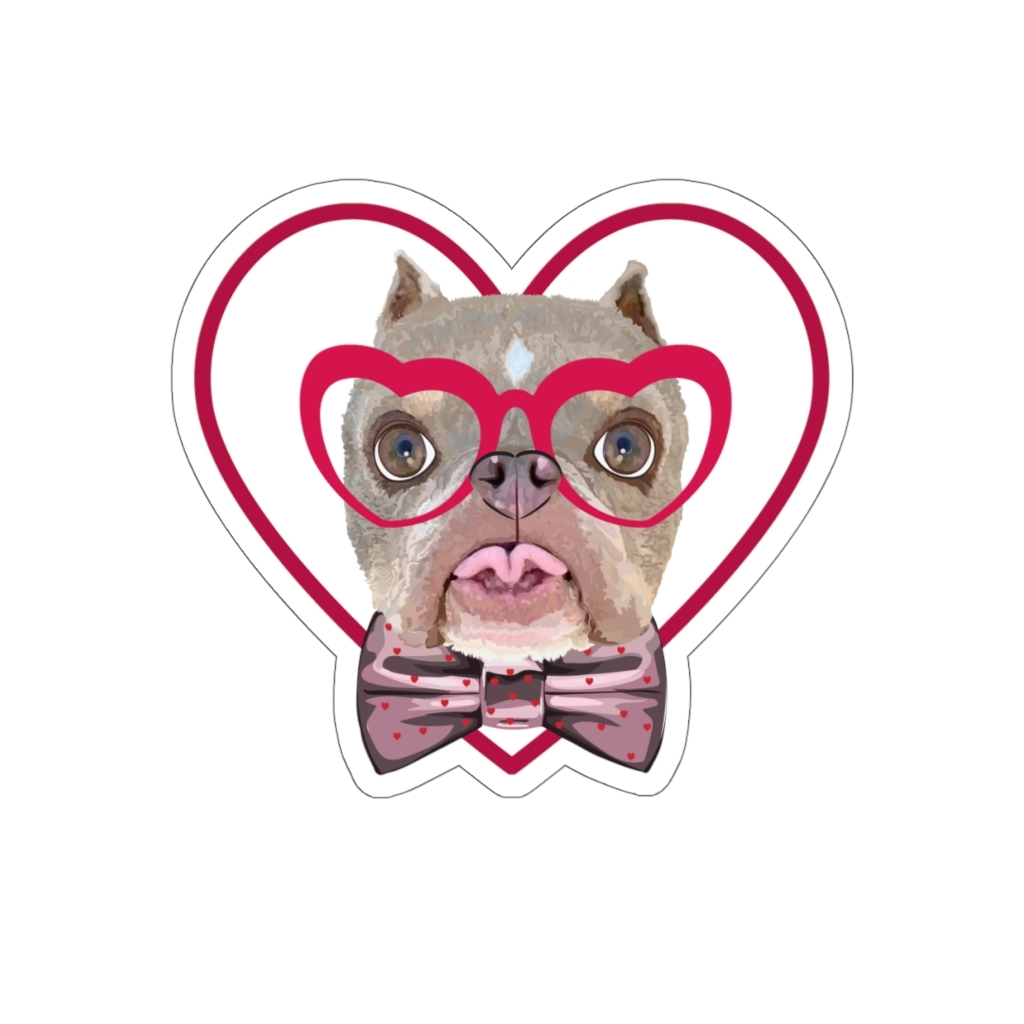 Road Dogs and Rescue Ecommerce Shop Atlas Love Kiss-Cut Stickers Front