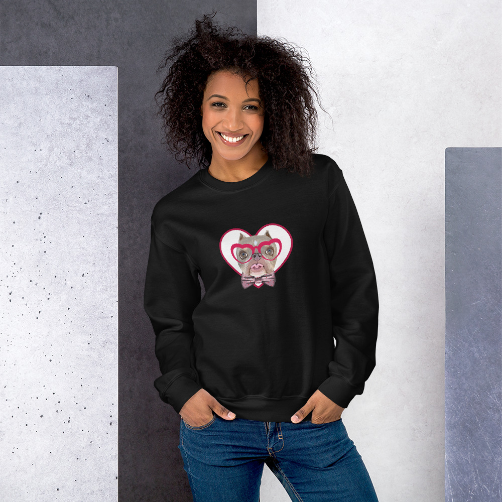 Road Dogs and Rescue Atlas Love Sweatshirt (Unisex) Front Black