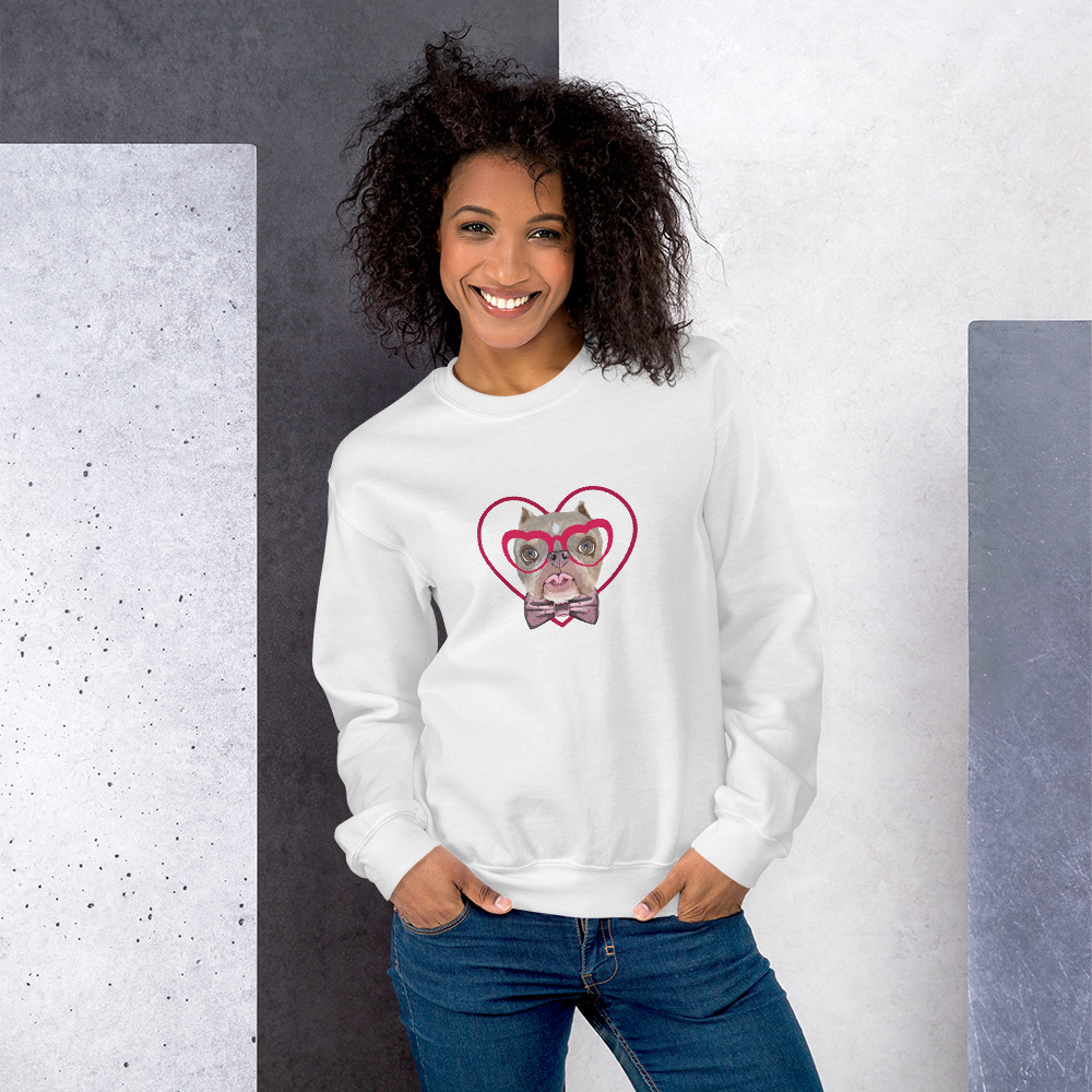 Road Dogs and Rescue Atlas Love Sweatshirt (Unisex) Front White