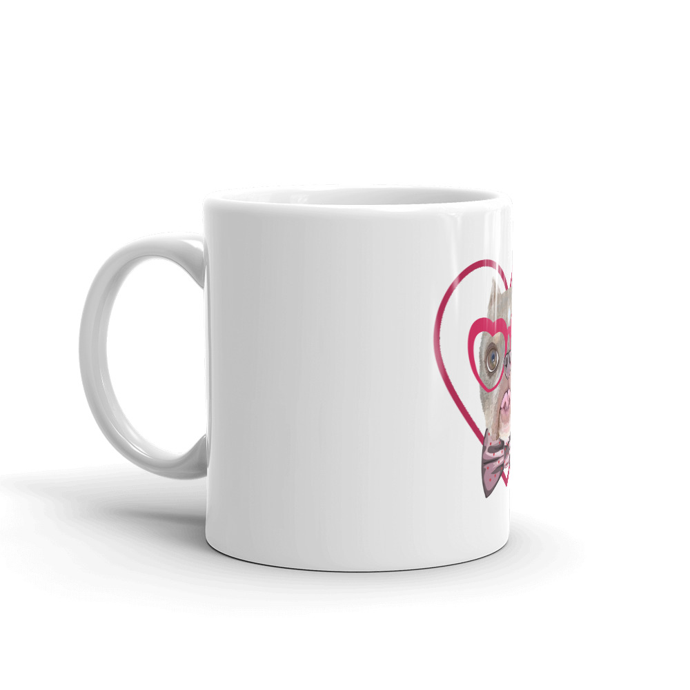 Road Dogs and Rescue Ecommerce Shop Atlas Love Mug White Side